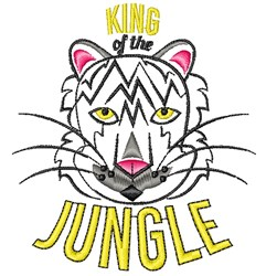 White Tiger King Of The Jungle embroidery design