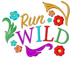 Wild Run Wild embroidery design