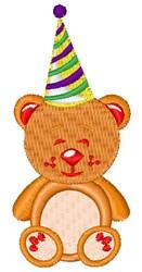 Birthday Bear embroidery design
