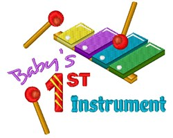 Xylophone Baby s 1st Instrument embroidery design