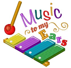 Xylophone Music To My Ears embroidery design