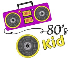 Boombox 80 s Kid embroidery design