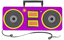 Boombox Base embroidery design