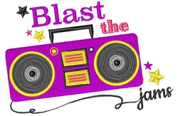 Boombox Blast The Jams embroidery design