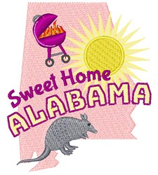 Alabama Sweet Home Alabama embroidery design