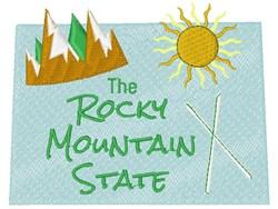 Colorado Rocky Mountain State embroidery design