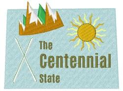 Colorado The Centennial State embroidery design