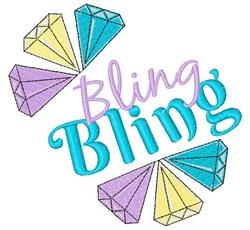 Diamonds Bling Bling embroidery design