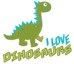 Dino I Love Dinosaurs embroidery design