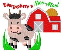 Farm Everywhere A Moo Moo embroidery design