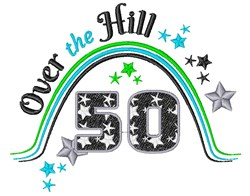 Fifty Over The Hill embroidery design
