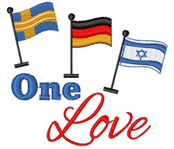 Flags One Love embroidery design