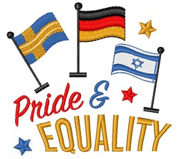 Flags Pride And Equality embroidery design