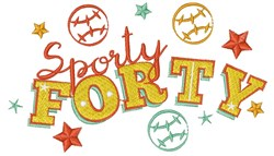 Forty Sporty Forty embroidery design
