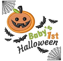 Halloween Baby s 1st Halloween embroidery design