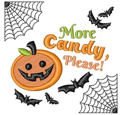 Halloween More Candy Please embroidery design