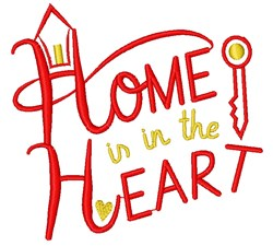 Home Home Is In The Heart embroidery design