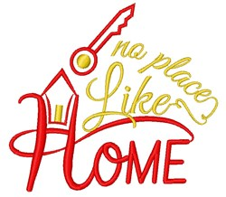 Home No Place Like Home embroidery design