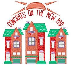 House Congrats On The New Pad embroidery design