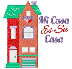 House Mi Casa Es Su Casa embroidery design