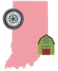 Indiana Base embroidery design