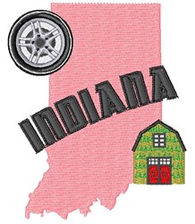 Indiana Indiana embroidery design