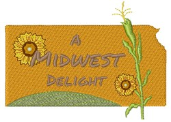 Kansas A Midwest Delight embroidery design