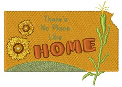 Kansas There s No Pace Like Home embroidery design