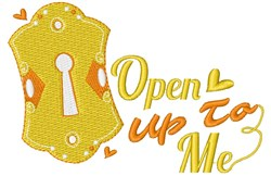 Key Hole Open Up To Me embroidery design