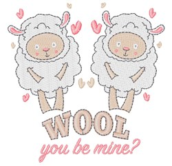 Lamb Wool You Be Mine embroidery design
