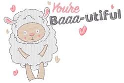 You re Baaa utiful embroidery design