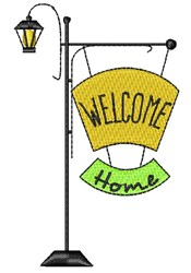 Lamp Post Welcome Home embroidery design