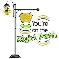 Lamp Post You re On The Right Path embroidery design
