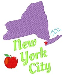 New York New York City embroidery design