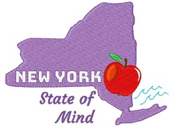 New York New York State Of Mind embroidery design