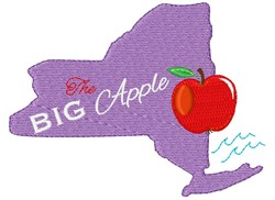 New York The Big Apple embroidery design