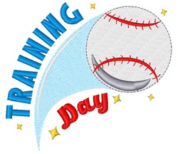 Baseball Training Day embroidery design