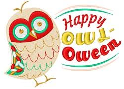 Owl Happy Owl Oween embroidery design