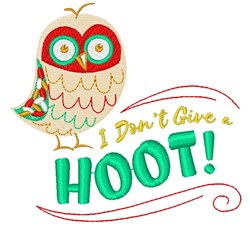 Don t Give A Hoot embroidery design