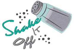 Pepper Shaker Shake It Off embroidery design
