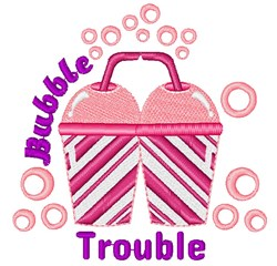 Pink Cup Bubble Trouble embroidery design
