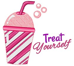 Pink Cup Treat Yourself embroidery design