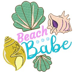 Shells Beach Babe embroidery design