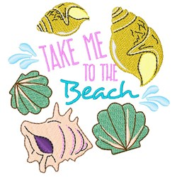 Shells Take Me To The Beach embroidery design