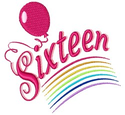 Sixteen embroidery design