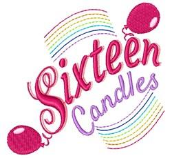 Sixteen Sixteen Candles embroidery design