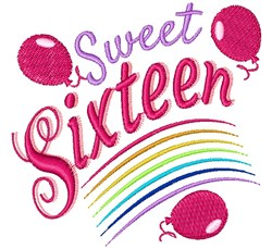 Sixteen Sweet Sixteen embroidery design