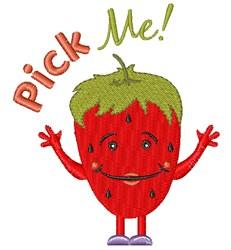 Strawberry Pick Me! embroidery design