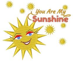 Sun You Are My Sunshine embroidery design