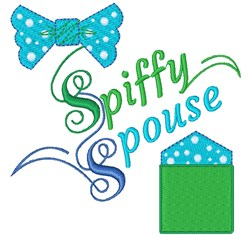 Tie&Square Spiffy Spouse embroidery design